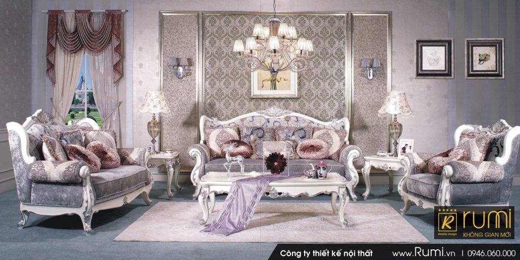 Mẫu phòng khách tân cổ điển RUMIX45