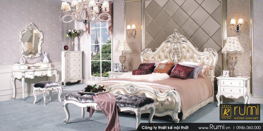 Mẫu phòng ngủ tân cổ điển RUMIX48