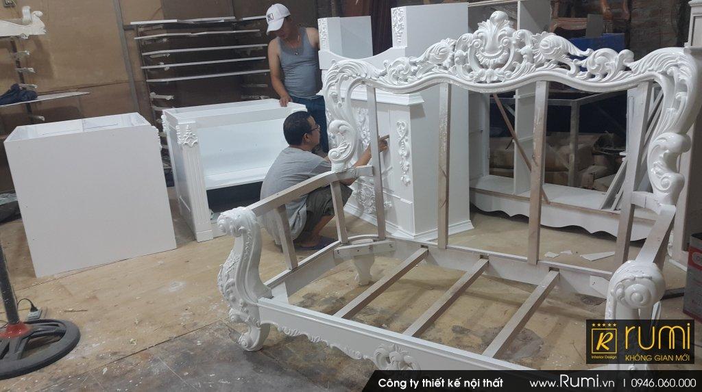 Thi công nội thất tân cổ điển tại Xã Long Xuyên, Phúc Thọ