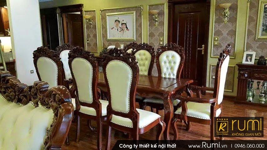 Thi công nội thất tân cổ điển tại Xã Hiền Ninh, Sóc Sơn