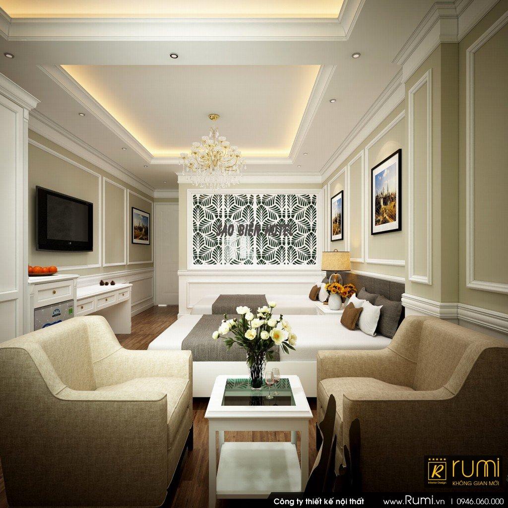 Thi công nội thất sảnh khách sạn tại Hà Nội