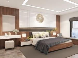 Mẫu thiết kế nội thất chung cư hai phòng ngủ chung cư Hoàng Quốc Việt