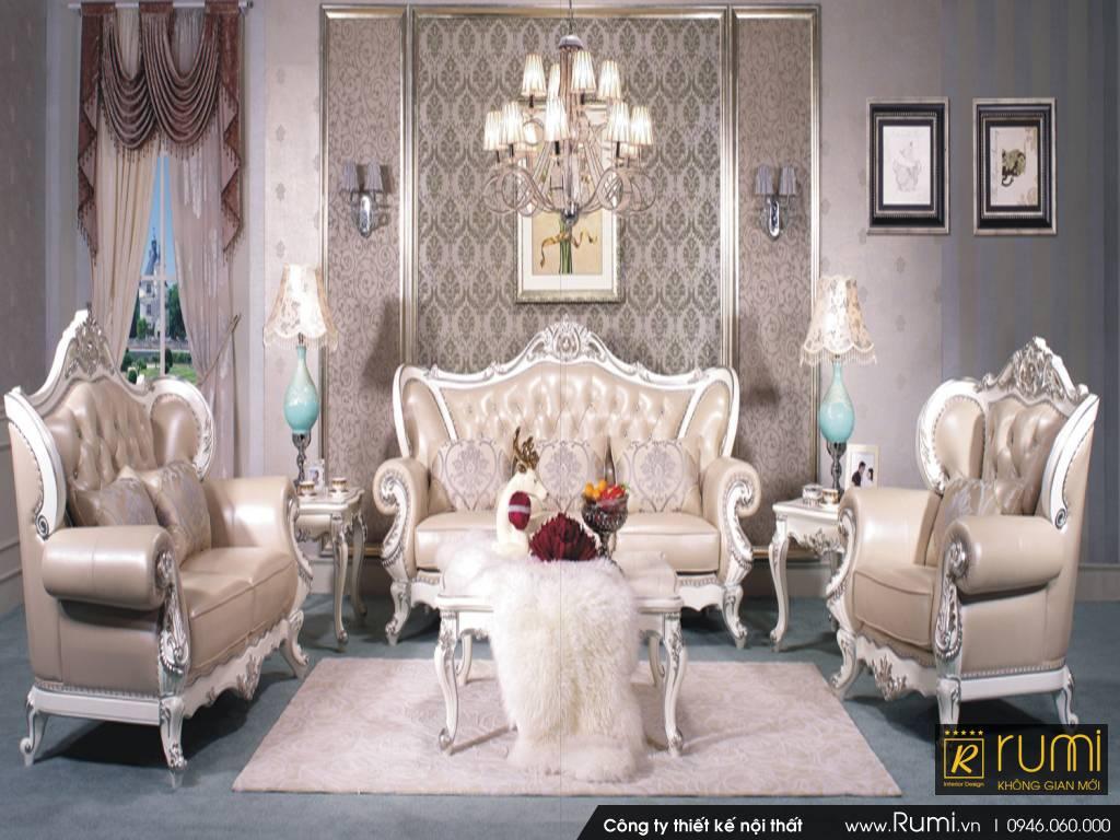 Mẫu nội thất phòng khách tân cổ điển đẹp