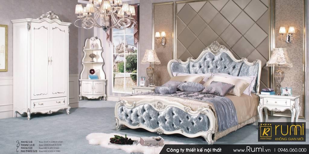 Mẫu nội thất phòng ngủ tân cổ điển đẹp