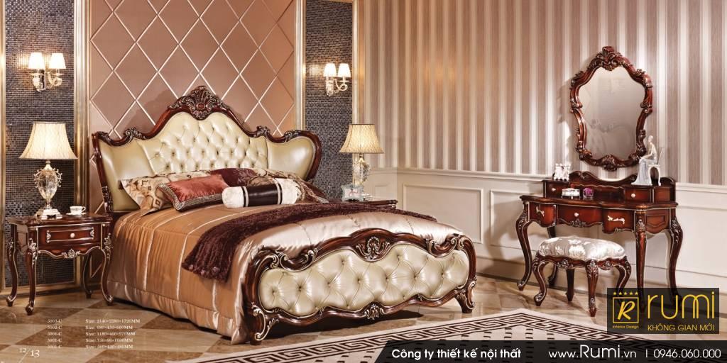 Mẫu nội thất phòng ngủ phong cách tân cổ điển đẹp