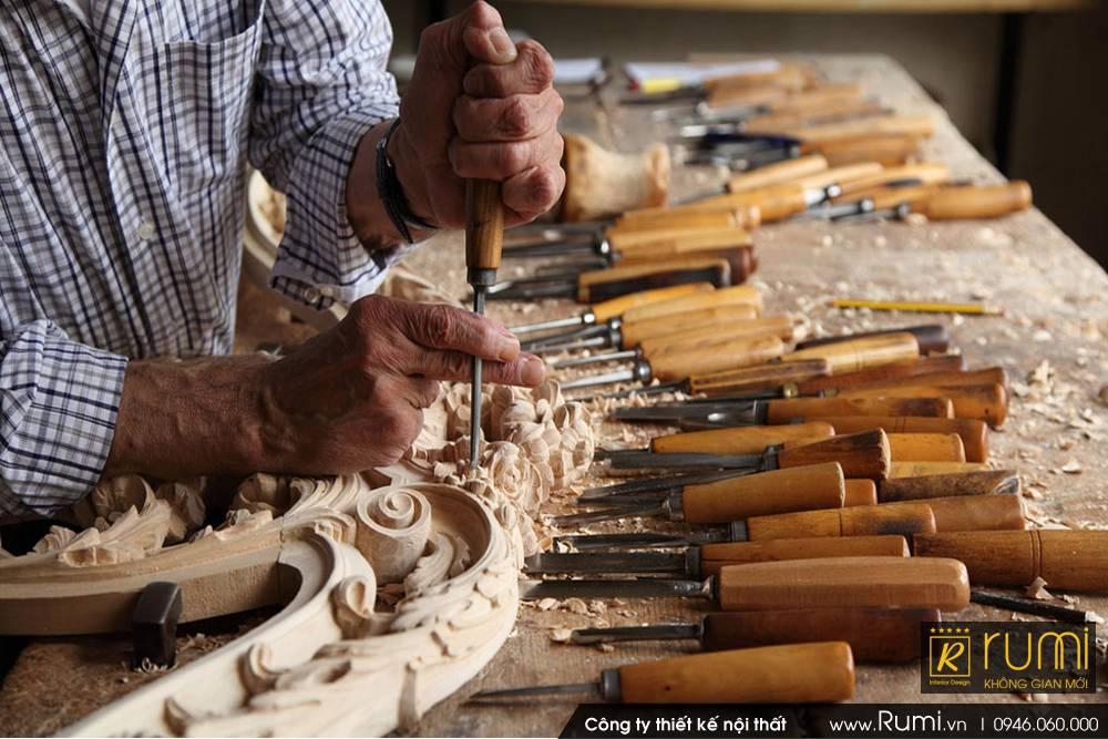 Xưởng sản Xuất Đồ Gỗ Nội thất tân cổ điển tại Thạch Thất