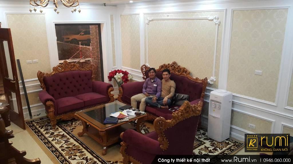 Sản xuất đồ gỗ & thi công nội thất tân cổ điển cho Anh Tuấn khu đô thị Gamuda Gardens
