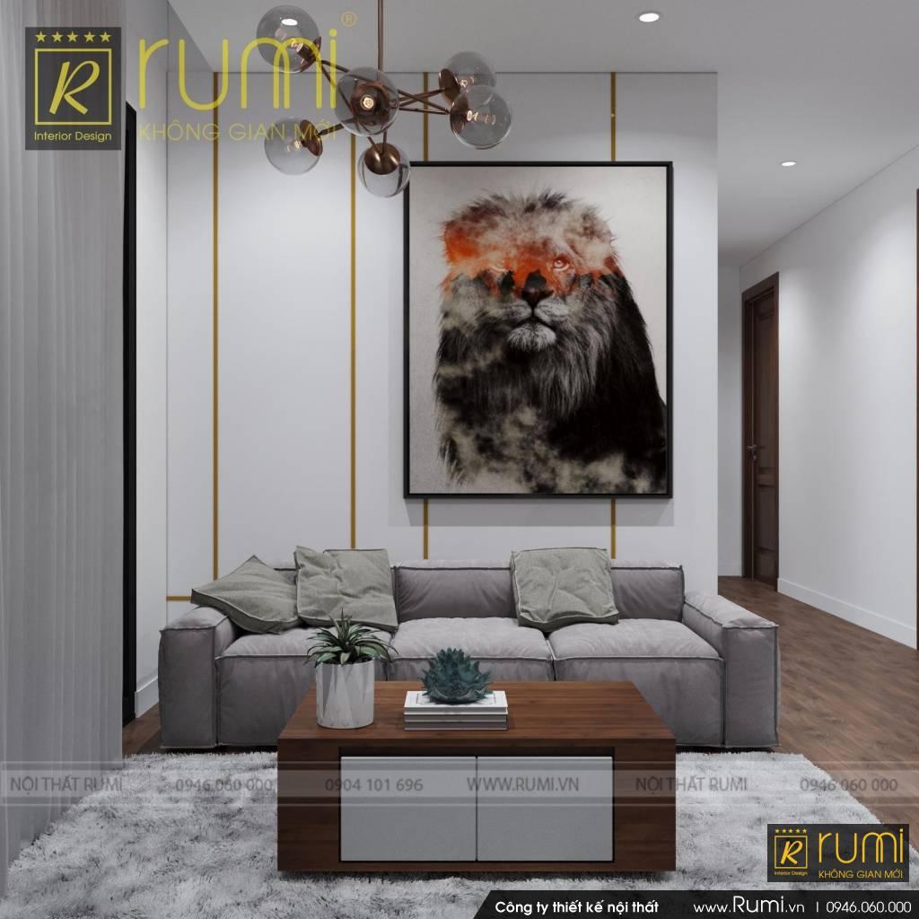 Thiết kế và thi công nội thất căn hộ 3PN Vinhomes Smart City
