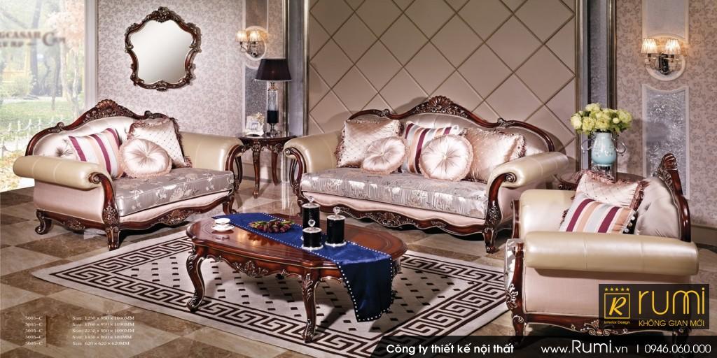 Mẫu phòng khách tân cổ điển RUMIX41